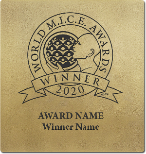 World MICE Awards winner wall plaque